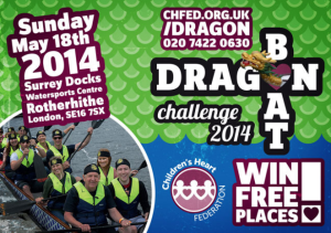Win FREE friends and family places at CHF's Dragon Boat Challenge!