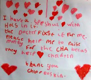 Chloe sponsor letter