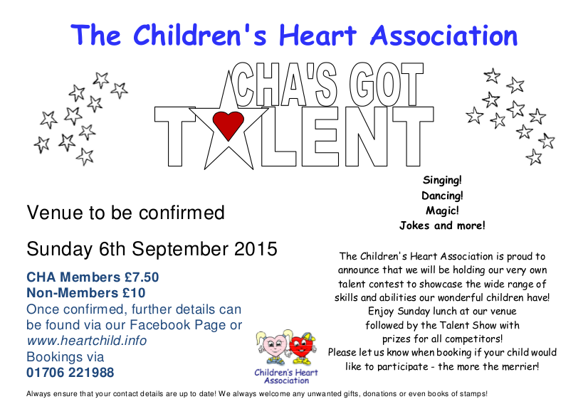 x 2015 CHA 's Got Talent flyer