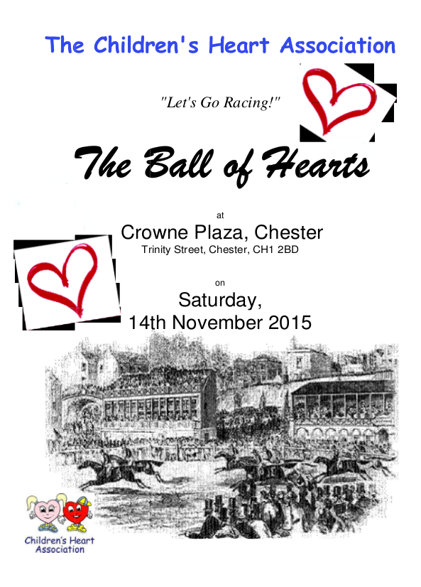 x2015 Ball of Hearts flyer front